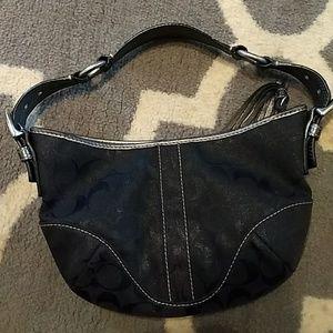 Authentic Coach crescent shoulder bag